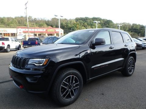 Diamond Black Crystal Pearl 2019 Jeep Grand Cherokee Trailhawk 4x4