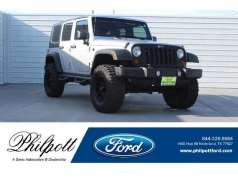 Bright Silver Metallic 2010 Jeep Wrangler Unlimited Sport