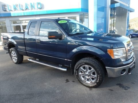 Blue Jeans Metallic 2013 Ford F150 XLT SuperCab 4x4