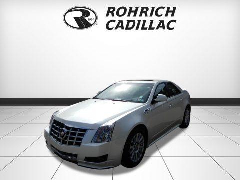 White Diamond Tricoat 2013 Cadillac CTS 4 3.0 AWD Sedan