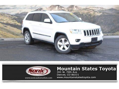 Stone White 2012 Jeep Grand Cherokee Laredo 4x4