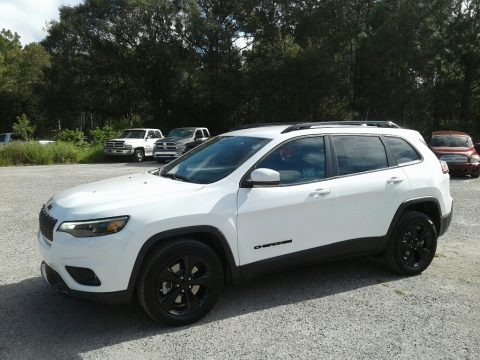 Bright White 2019 Jeep Cherokee Latitude Plus