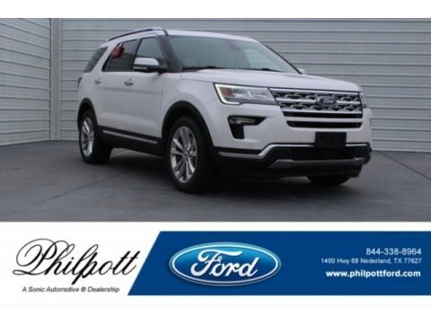 White Platinum 2018 Ford Explorer Limited