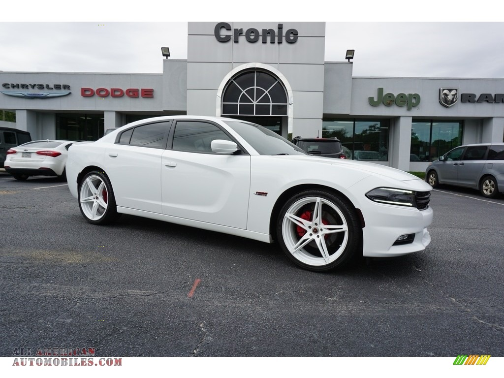 Bright White / Black Dodge Charger R/T
