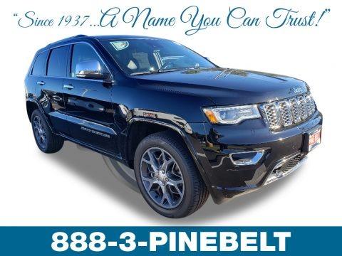 Diamond Black Crystal Pearl 2019 Jeep Grand Cherokee Overland 4x4