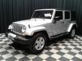 Jeep Wrangler Unlimited Sahara 4x4 Bright Silver Metallic photo #2