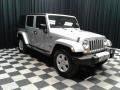 Jeep Wrangler Unlimited Sahara 4x4 Bright Silver Metallic photo #4