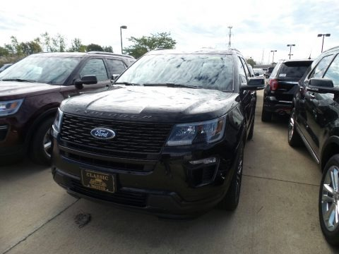 Agate Black 2019 Ford Explorer Sport 4WD