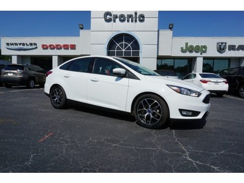 Oxford White 2017 Ford Focus SEL Sedan