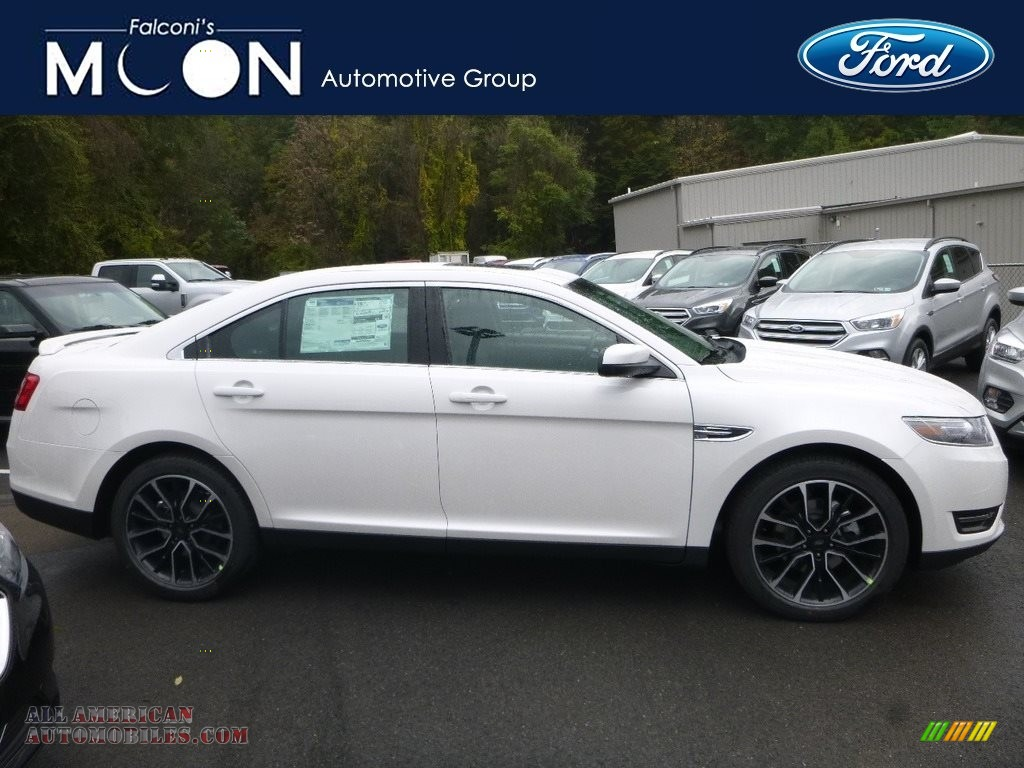 White Platinum / Charcoal Black Ford Taurus SEL AWD
