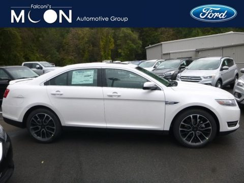 White Platinum 2019 Ford Taurus SEL AWD