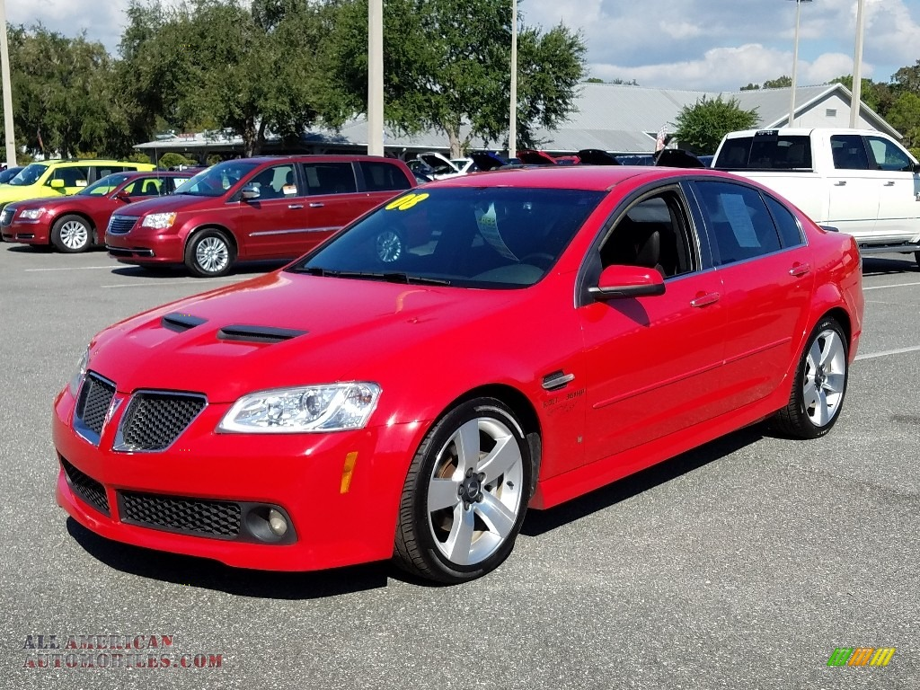 Liquid Red / Onyx/Red Pontiac G8 GT