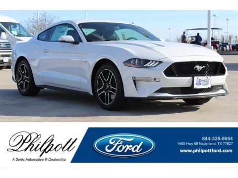 Oxford White 2018 Ford Mustang GT Premium Fastback