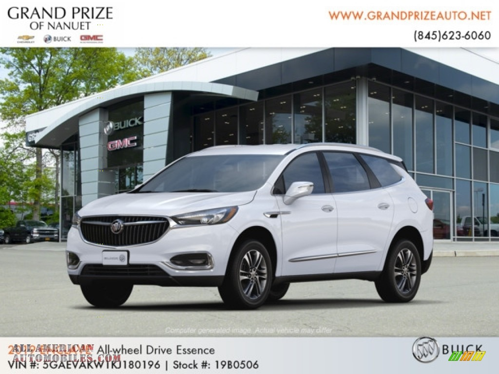 2019 Enclave Essence AWD - Summit White / Dark Galvanized/Ebony Accents photo #1