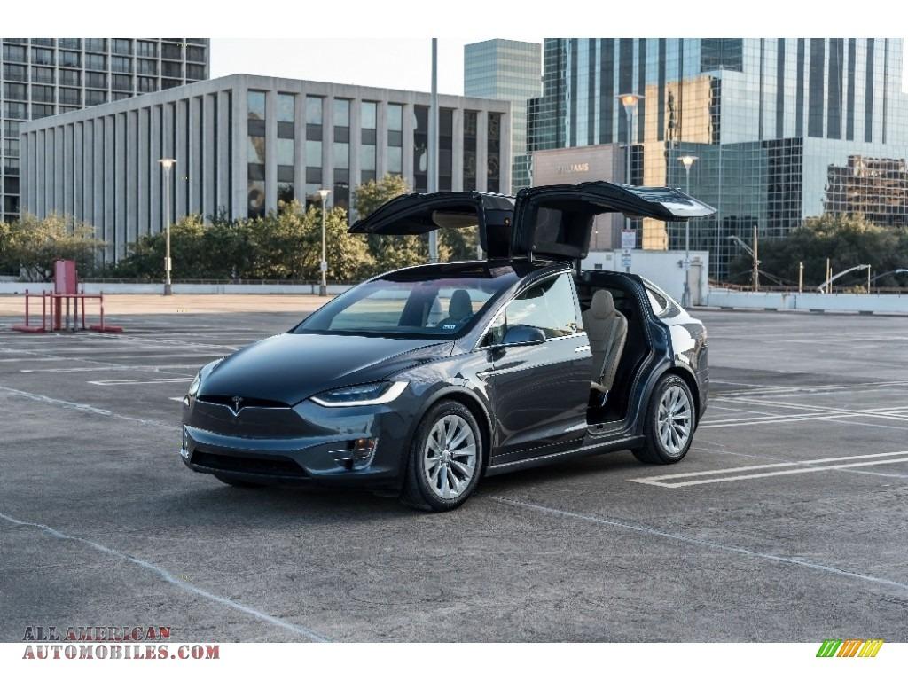 2016 Model X 90D - Titanium Metallic / Tan photo #1