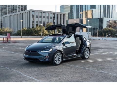 Titanium Metallic 2016 Tesla Model X 90D