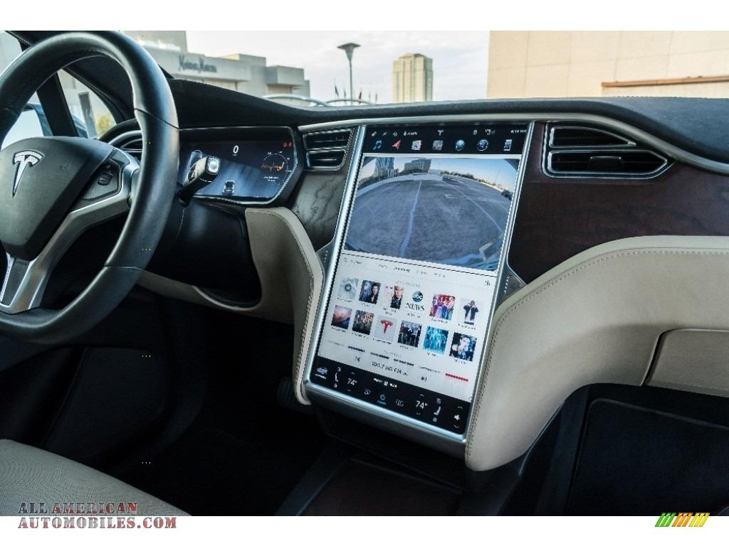 2016 Model X 90D - Titanium Metallic / Tan photo #5
