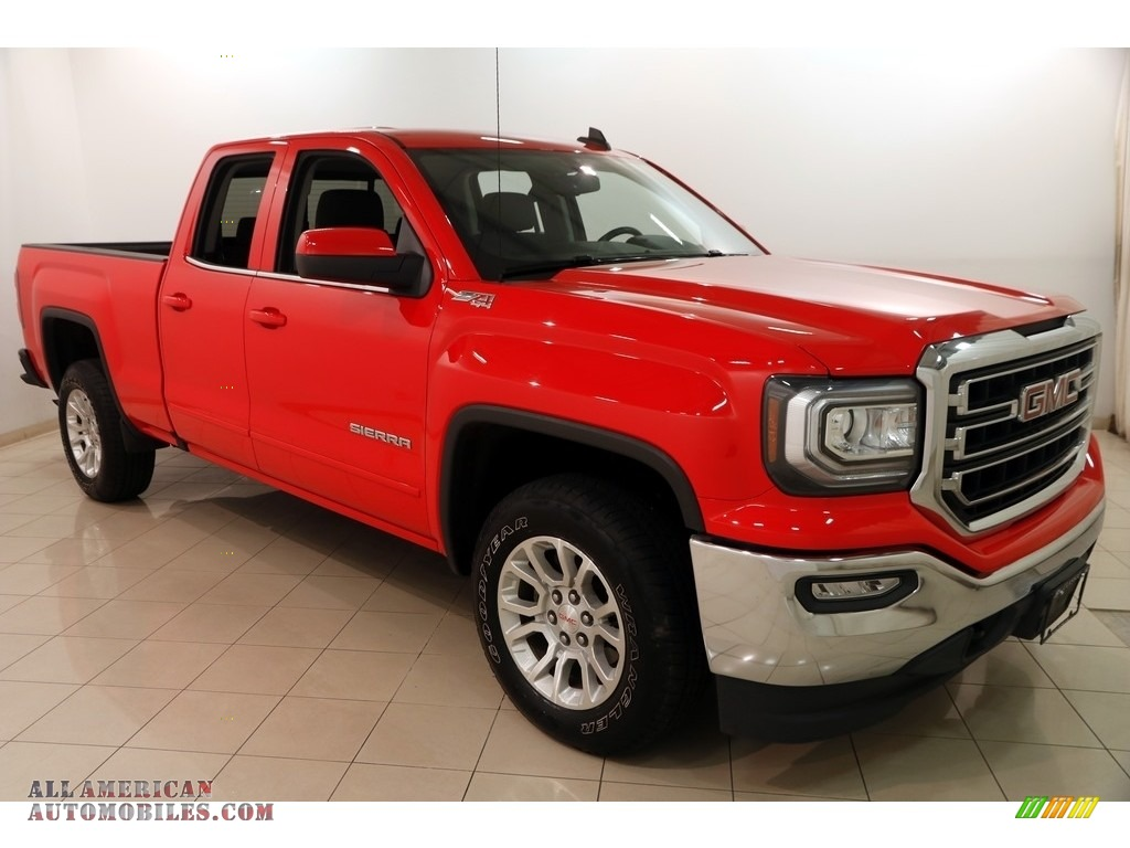 2016 Sierra 1500 SLE Double Cab 4WD - Cardinal Red / Jet Black photo #1