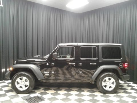 Black 2018 Jeep Wrangler Unlimited Sport 4x4