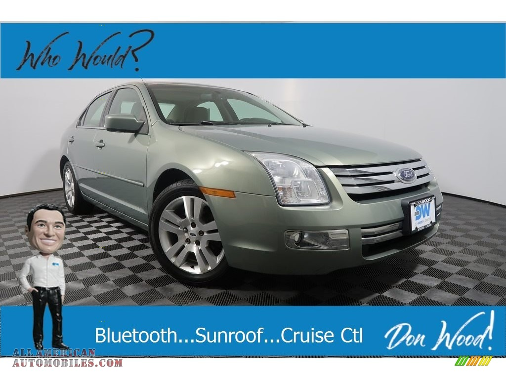 2009 Fusion SEL V6 - Moss Green Metallic / Camel photo #1