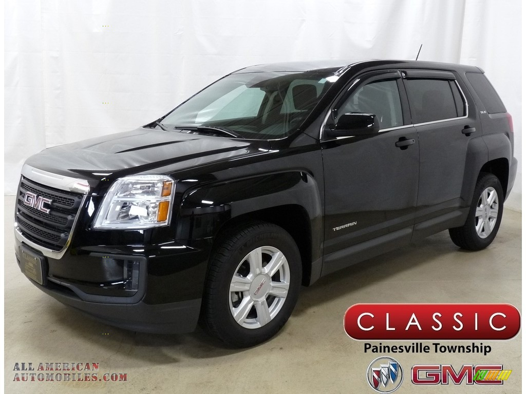 2016 Terrain SLE AWD - Onyx Black / Jet Black photo #1