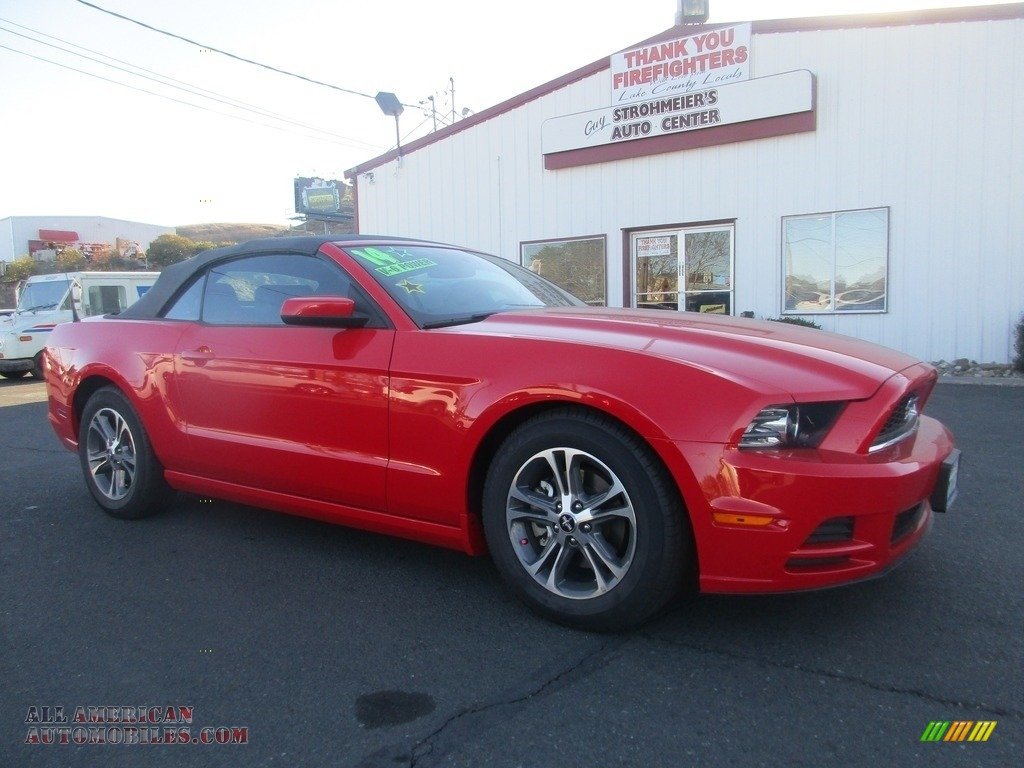 2014 Mustang V6 Convertible - Race Red / Charcoal Black photo #1