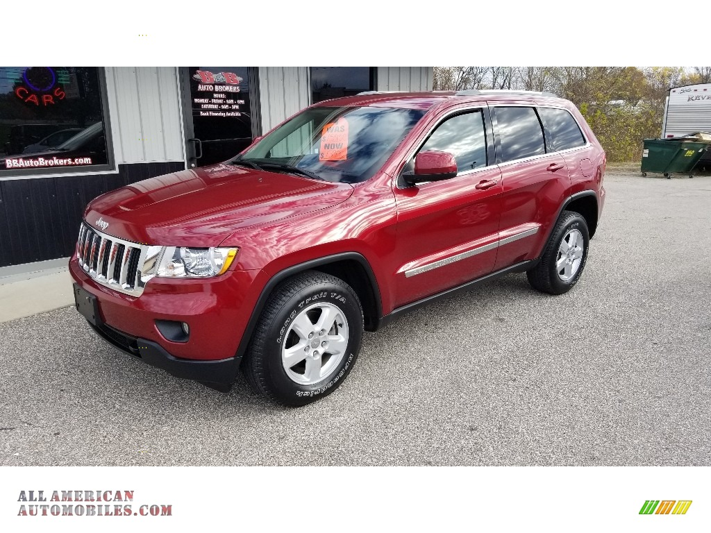 2012 Grand Cherokee Laredo 4x4 - Deep Cherry Red Crystal Pearl / Black photo #1