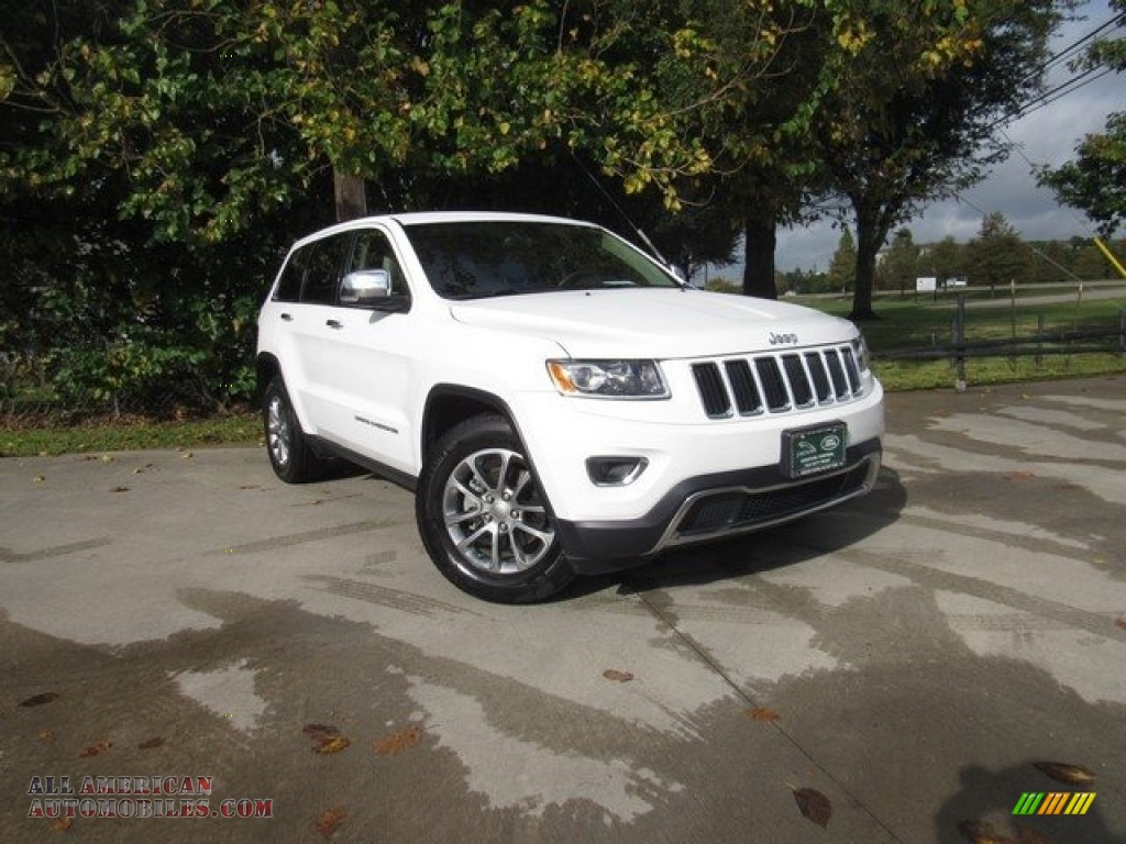 2015 Grand Cherokee Limited - Bright White / Black/Light Frost Beige photo #1
