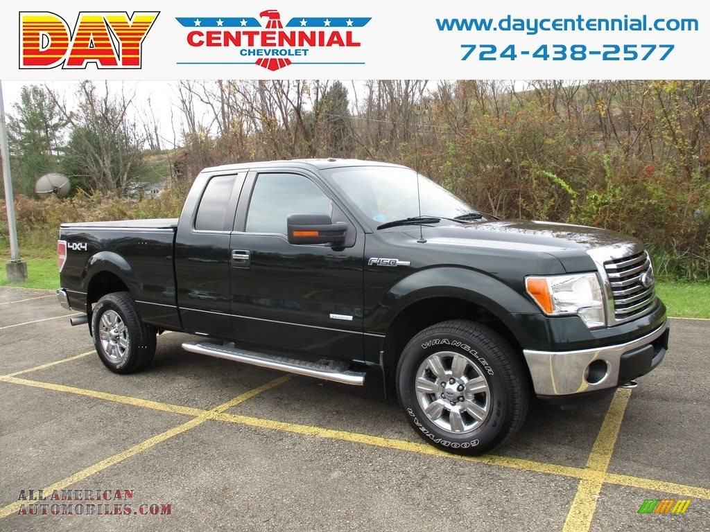 2012 F150 XLT SuperCab 4x4 - Green Gem Metallic / Steel Gray photo #1