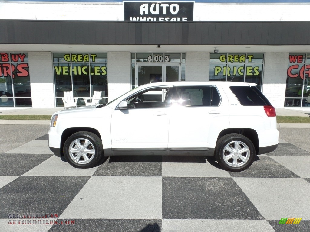 Summit White / Jet Black GMC Terrain SLE