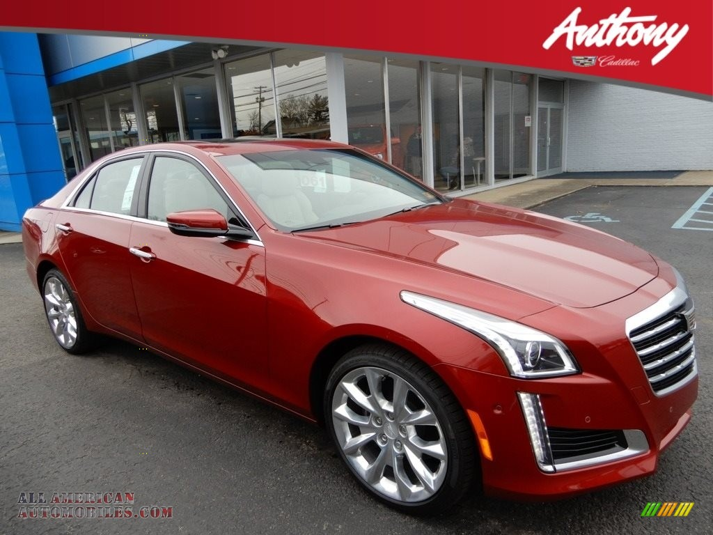 Red Obsession Tintcoat / Very Light Cashmere Cadillac CTS Premium Luxury AWD