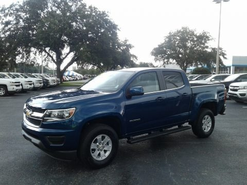 Pacific Blue Metallic 2019 Chevrolet Colorado WT Crew Cab 4x4