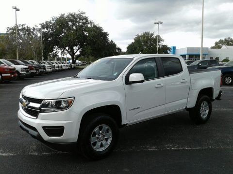 Summit White 2019 Chevrolet Colorado WT Crew Cab