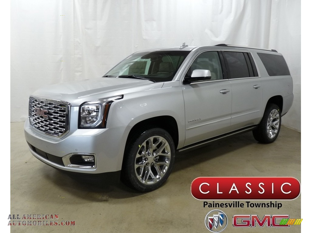 2019 Yukon XL Denali 4WD - Quicksilver Metallic / Cocoa/Shale photo #1