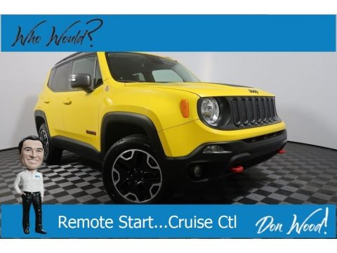Solar Yellow 2017 Jeep Renegade Trailhawk 4x4