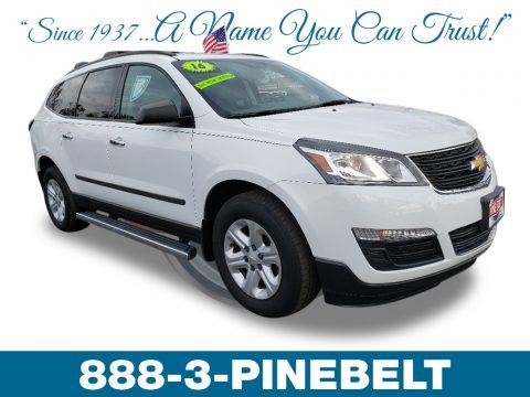 Summit White 2016 Chevrolet Traverse LS