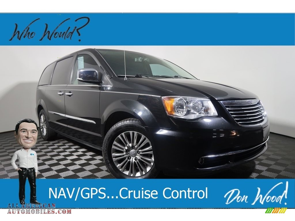 2015 Town & Country Touring-L - Brilliant Black Crystal Pearl / Black/Light Graystone photo #1
