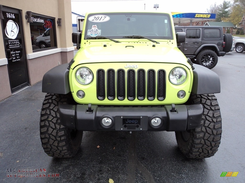 2017 Wrangler Unlimited Sport 4x4 - Hypergreen / Black photo #23