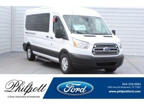 Oxford White 2019 Ford Transit Van 350 MR Long