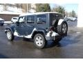 Jeep Wrangler Unlimited Sahara 4x4 Steel Blue Metallic photo #4