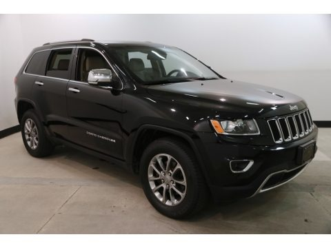 Brilliant Black Crystal Pearl 2015 Jeep Grand Cherokee Limited 4x4