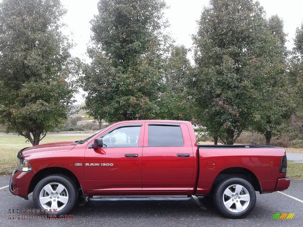 Deep Cherry Red Crystal Pearl / Dark Slate Gray/Medium Graystone Dodge Ram 1500 Express Crew Cab 4x4