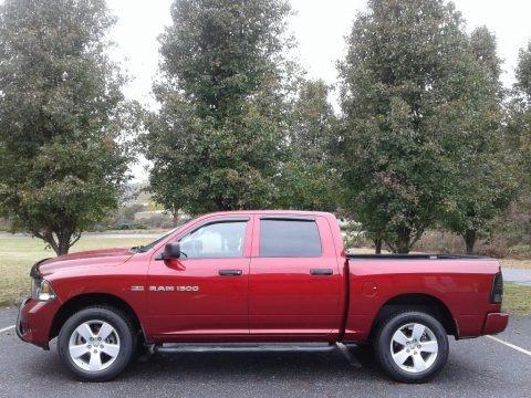 Deep Cherry Red Crystal Pearl 2012 Dodge Ram 1500 Express Crew Cab 4x4
