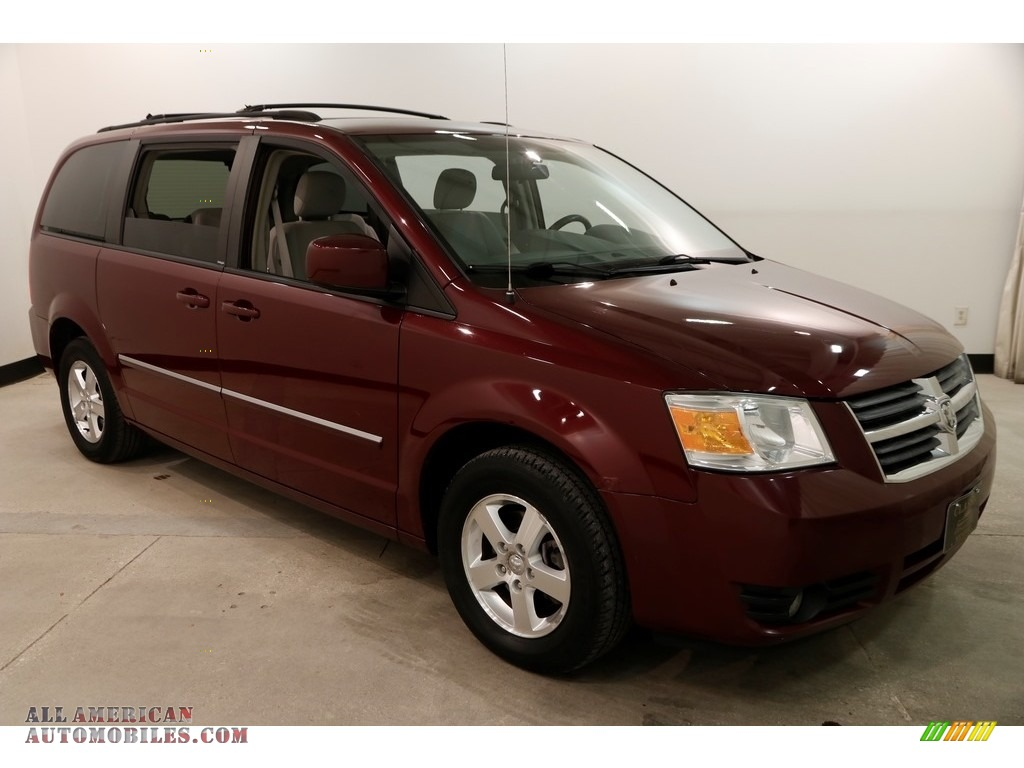 2009 Grand Caravan SXT - Deep Crimson Crystal Pearl / Medium Slate Gray/Light Shale photo #1