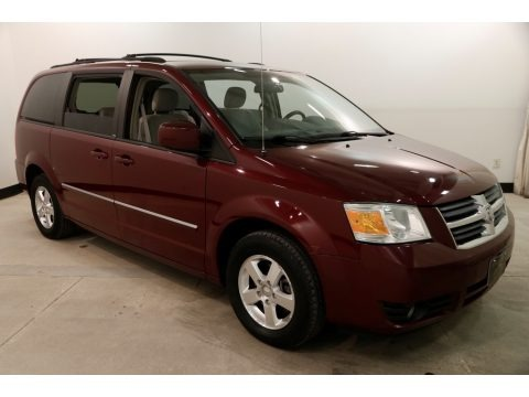 Deep Crimson Crystal Pearl 2009 Dodge Grand Caravan SXT