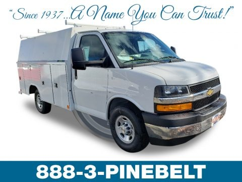 Summit White 2018 Chevrolet Express Cutaway 3500 Work Van