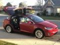 Tesla Model X 75D Red Multi-Coat photo #27