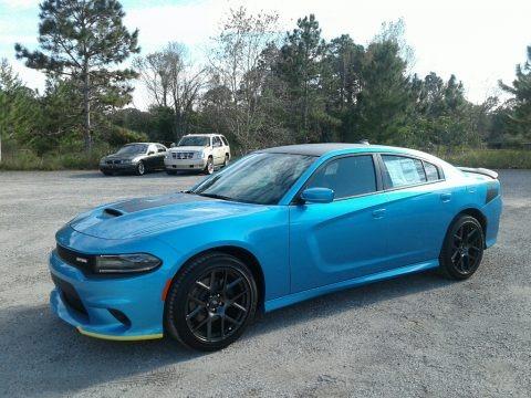 B5 Blue Pearl 2019 Dodge Charger Daytona