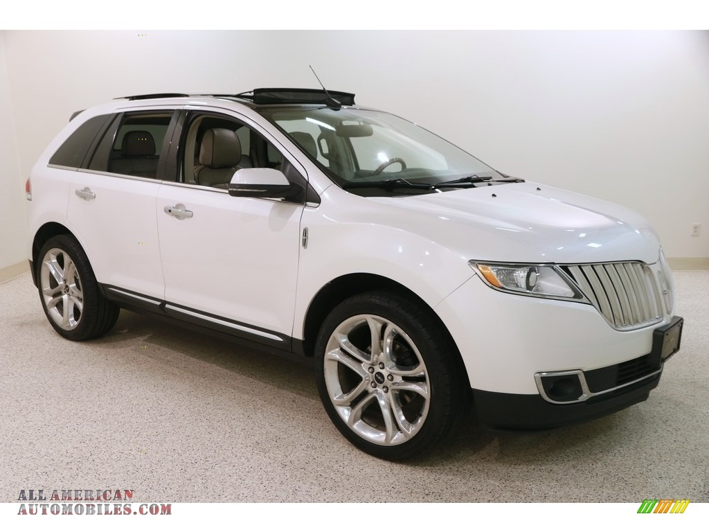 2013 MKX AWD - White Platinum Tri-Coat / Medium Light Stone photo #1