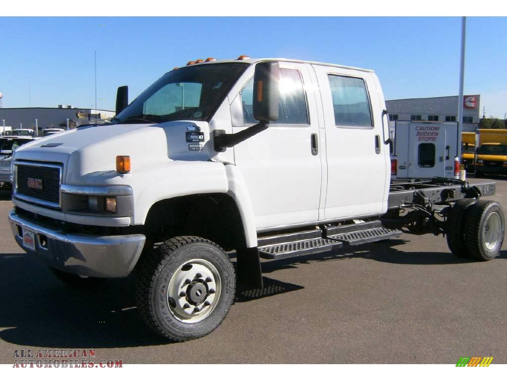 2009 gmc c series topkick c5500 crew cab 4x4 chassis in summit white photo 3 407931 all. Black Bedroom Furniture Sets. Home Design Ideas